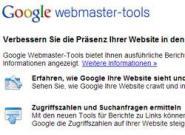 Sitemap über Google Webmaster Tools