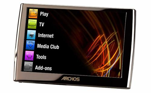 archos 5 internet tablet mit google android betriebssystem und 500 gb festplatte. Black Bedroom Furniture Sets. Home Design Ideas