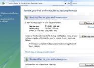 Windows-Backup: Mit Windows 7 ein