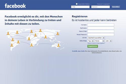 Facebook login über handy