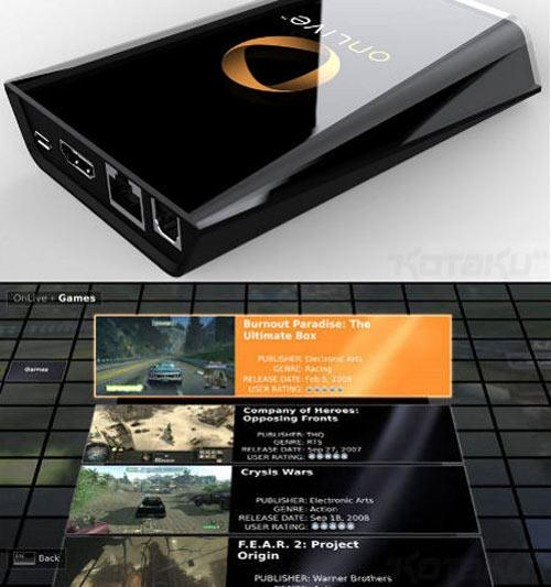 OnLive Games Streaming