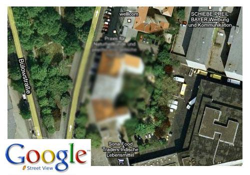 Google Street View unkenntlich