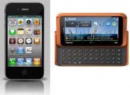 Nokia E7 vs. iPhone 4: