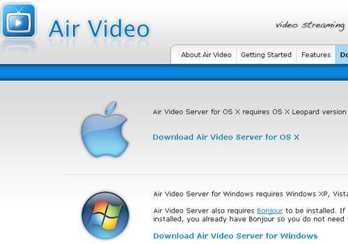 apple air video download