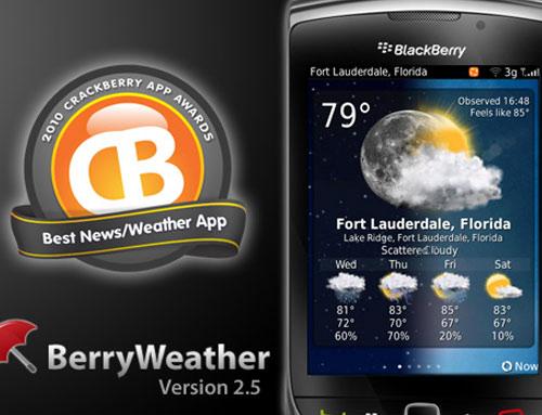 BlackBerry apps BerryWeather