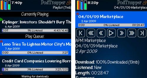 BlackBerry apps PodTrapper Podcast