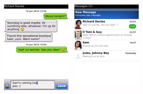 BlackBerry apps Crunch SMS