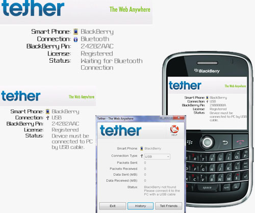 BlackBerry apps Tether