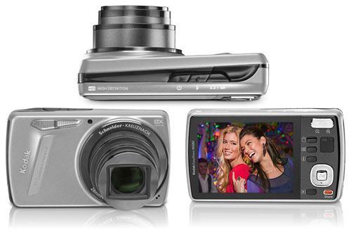 Digikam Kodak EasyShare M580 Voder-RückSeite Seitenansicht