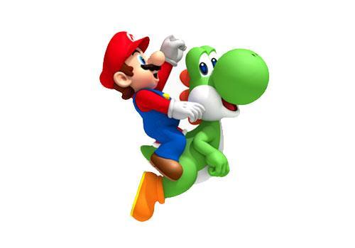 Mario und Freund grünes Dingen