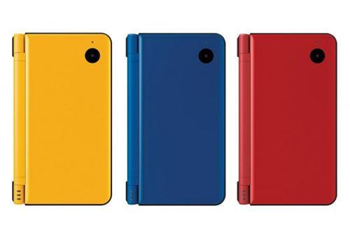 Nintendo DSI XL Farben gelb rot blau