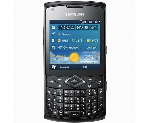 Handy Samsung Business Omnia 735 Frondansicht