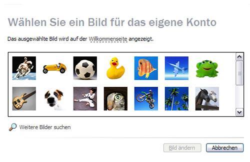 Bild des Windows Benutzer-Accounts