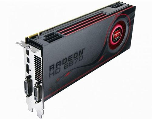 AMD Radeon HD 6870 Seitenansicht