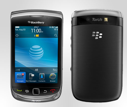 Black Berry Torch 9800 Ansichten