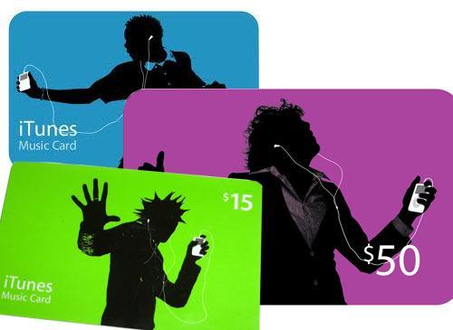 music cards itunes