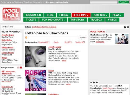 pooltrax musik portal