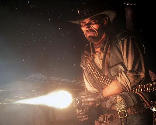 Red Dead Redemption Srceenshot beim Schießen