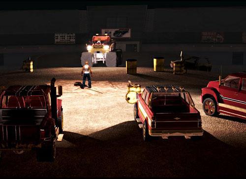 Saint Row 2 Screenshot umzingelt von Autos