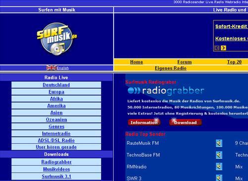 surfmusik radio hören