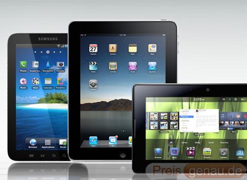 Apple ipad samsung galaxy tab und blackberry playbook im vergleich