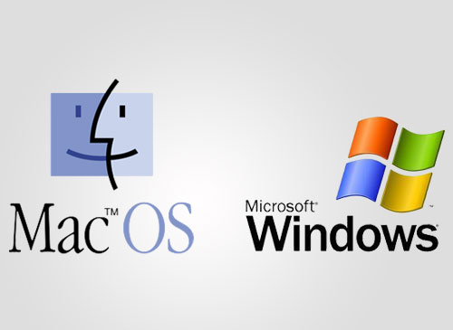 Microsoft Windows Apple Mac OS Logo