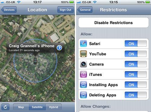 Apple iOS Einstellungen u.s.w