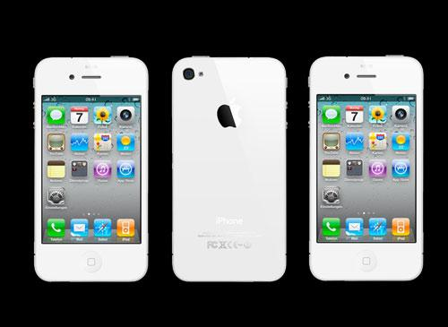 iPhone white rückseite umramt Frontseite