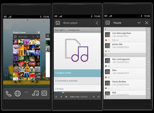 Meego smartphone screen