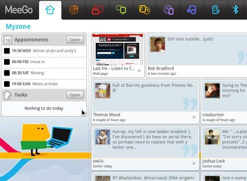 Meego netbook screen