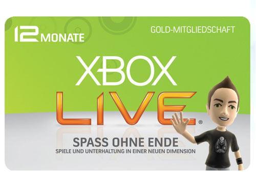 Microsoft Xbox live Gold Mitgliedschaft