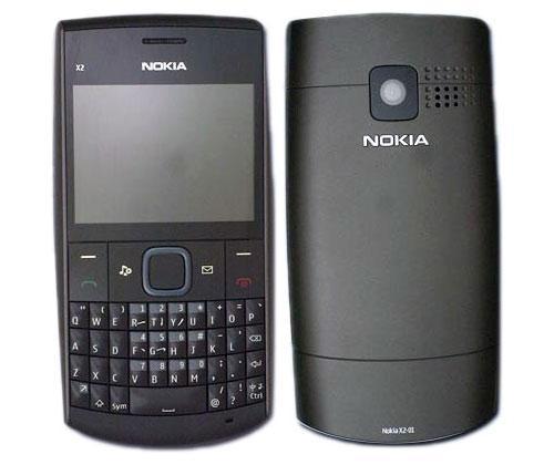 Nokia X2-01 Vorder-Rückseitenansicht