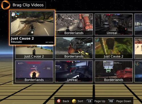 OnLive Spiele auswahl Screenshot