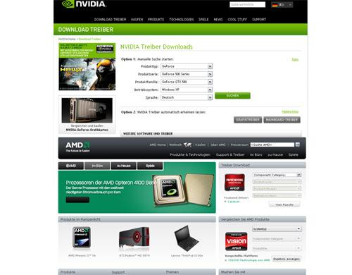 Nvidia AMD Treiber Downloaden
