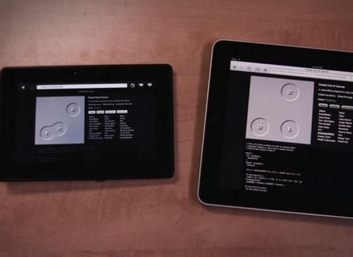 BlackBerry Tab verbleich Apple iPhad