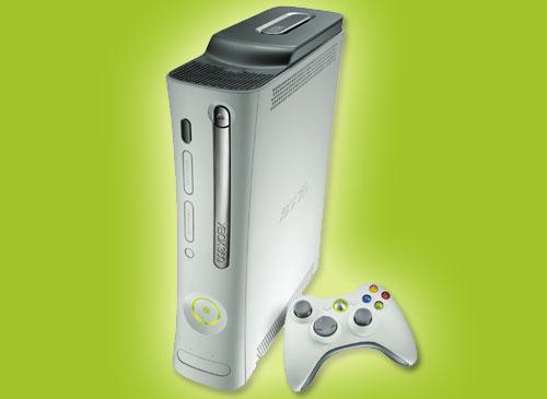 Xbox 360 Weiß grüner Hintergrunf