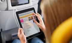 Telekom Internetzugang auf Lufthansa-Flügen in