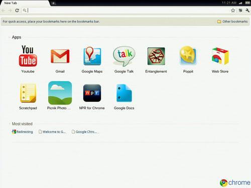 Google Chrome OS Start Bild