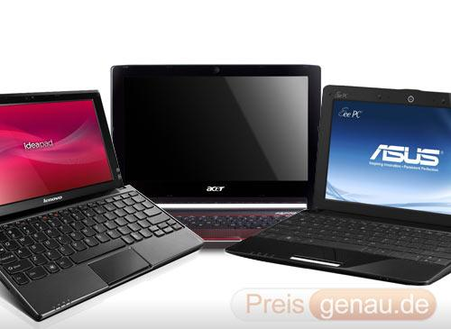 netbook asus acer lenovo