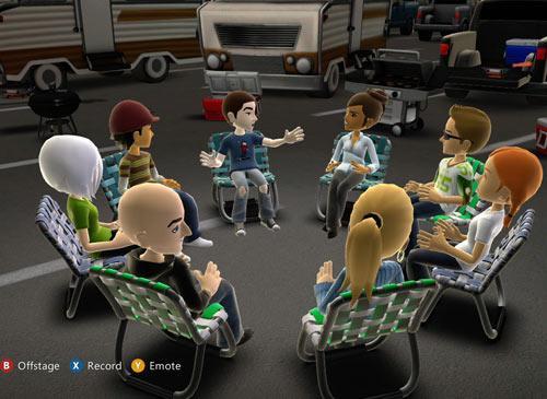 Avatar Kinect sitzkreis