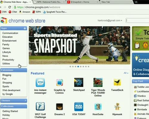 Chrome OS Webstor