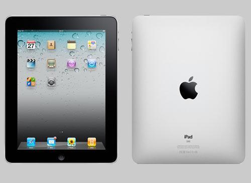 Apple ipad Vorder-Rückseiten ansicht