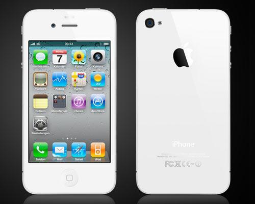 iPhone Weiß ansichten