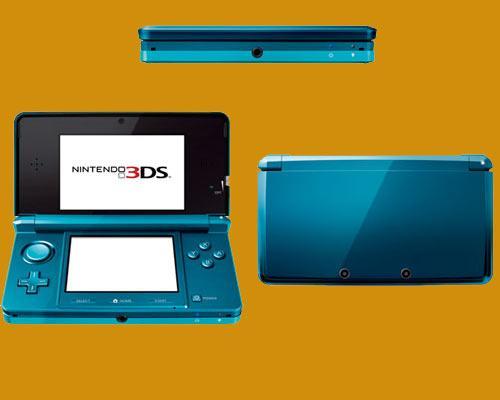 Nintendo 3DS Blau Ansichten