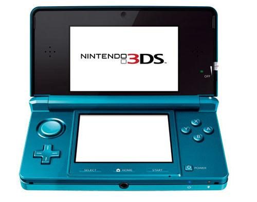 Nintendo 3D Blau Standatansicht