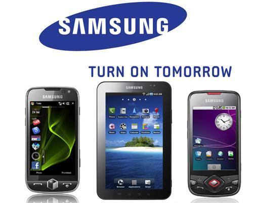 Samsung Logo und Produkte