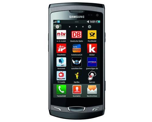 Samsung Wave II Apps ansicht