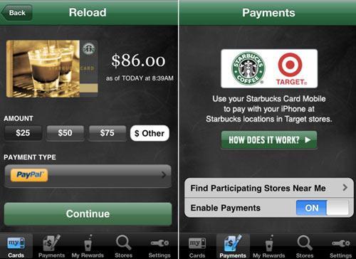 Apple Starbucks App