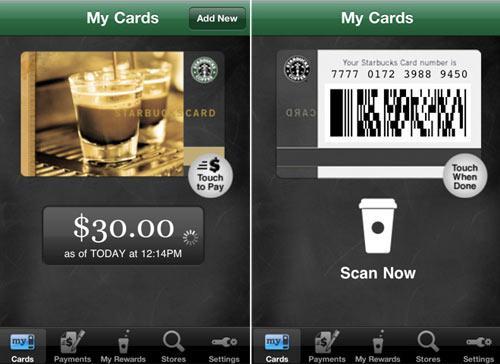 iPhone App Starbucks