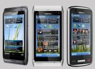 Nokia Handys N8, C6-01 und